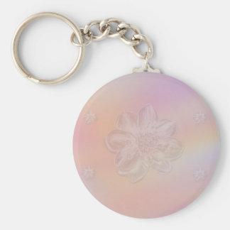 Soft Flower on Pastel Medley Keychain
