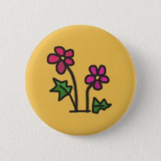Soft flower pinback button