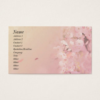 Soft Flowers Business Card