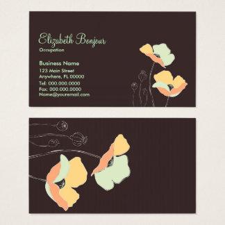 Soft Flowers - Business Cards Femenine