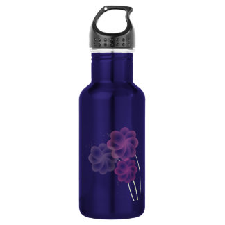 Soft Flowers Glitter 18oz Water Bottle