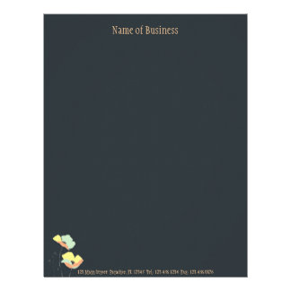 Soft Flowers ~ Letterhead Business Work Career