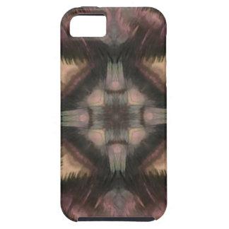 Soft Fluffy Mauve Teal Feather Mandala iPhone 5 Case