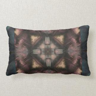 Soft Fluffy Mauve Teal Feather Mandala Throw Pillow