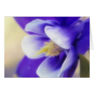 Soft Focus Blue Columbine Card