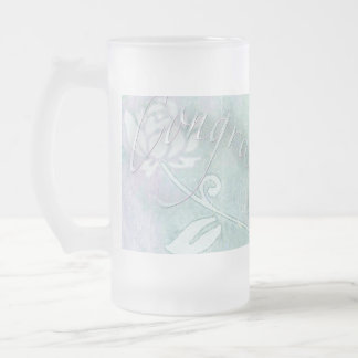 Soft-Focus Congratulations Frosted Glass Beer Mug