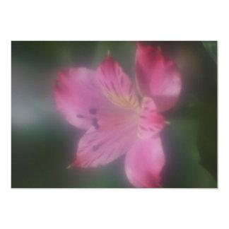 Soft Focus Lens Photo of a Flower Card 13 Cm X 18 Cm Invitation Card