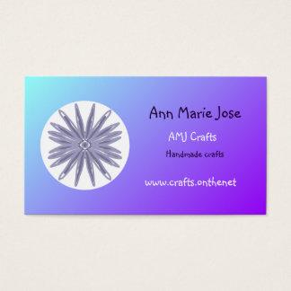 Soft focus T/blues/purple/white flower busin/cards Business Card
