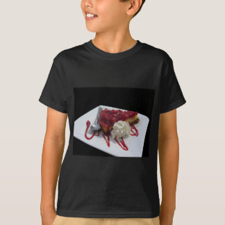 Soft fruits cheesecake with fresh berries isolated T-Shirt