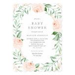 Soft Garden Florals Baby Shower Invitation at Zazzle