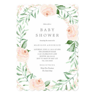 d3c433d1ef1 Soft Garden Florals Baby Shower Invitation