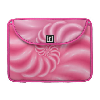 "Soft Glossy Pink Spiral Macbook Pro 13"" Sleeve"