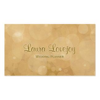Soft Glow Golden Bokeh Lights Business Card