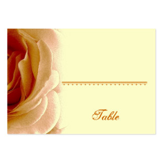Soft Gold Rose Place Card - Anniversary Party Large Business Card