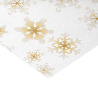 Soft Gold Snowflakes - Tissue Paper
