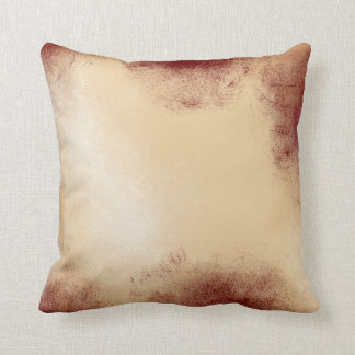 Soft Gold with Red Edges | Throw Pillow