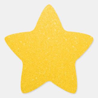Soft Golden Yellow Faux Glitter Star Sticker