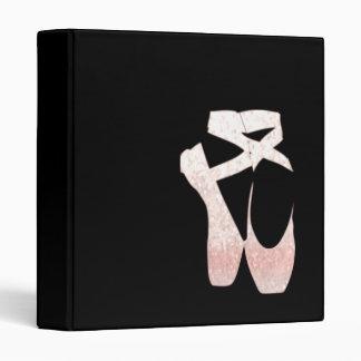 Soft Gradient Pink Ballet Shoes Binder