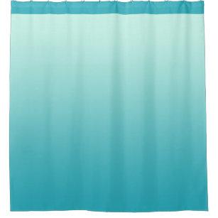 Blue Gradient Shower Curtains