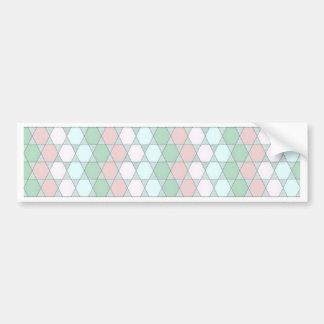 soft graphic pattern bumper sticker