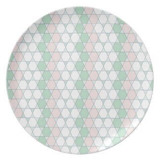 soft graphic pattern dinner plate
