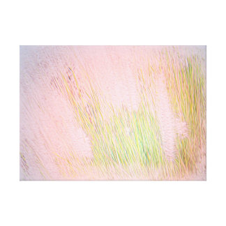Soft Grass and Pink Sky Canvas Print
