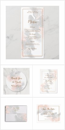 SOFT GRAY AND PEACH MARBLE WEDDING