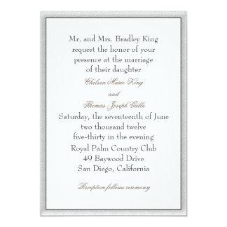 Soft Gray Border Wedding Invitation