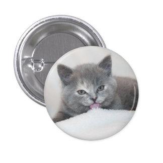 Soft Gray Kitty Pin
