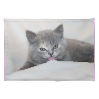 Soft Gray Kitty Placemats