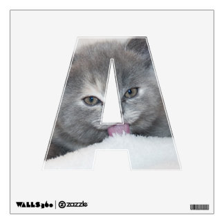 Soft Gray Kitty Wall Decal