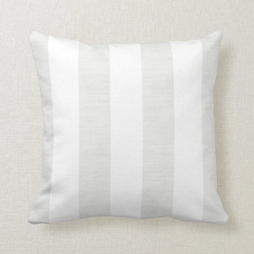 Soft Gray Linen Look Stripes Throw Pillow Zazzle