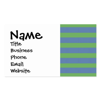 Soft Green and Blue Purple Striped Pattern Double-Sided Standard Business Cards (Pack Of 100)
