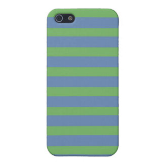 Soft Green and Blue Purple Striped Pattern Cover For iPhone SE/5/5s