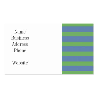 Soft Green and Periwinkle Striped Pattern Double-Sided Standard Business Cards (Pack Of 100)