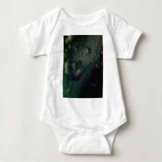 Soft green bubbles on natural metallic finish baby bodysuit