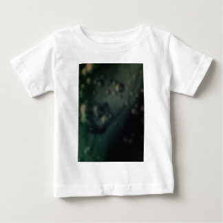 Soft green bubbles on natural metallic finish baby T-Shirt