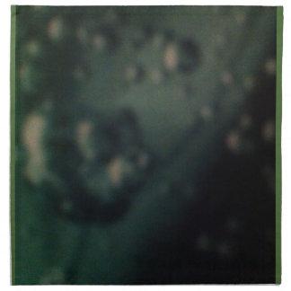 Soft green bubbles on natural metallic finish cloth napkin