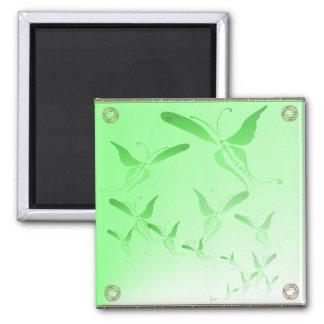 Soft Green Butterfly Magnet