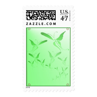 Soft Green Butterfly Postage