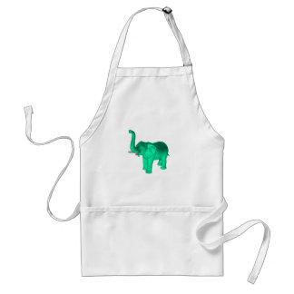 Soft Green Elephant Adult Apron