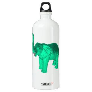 Soft Green Elephant Aluminum Water Bottle