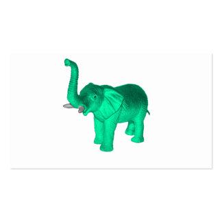 Soft Green Elephant Business Card Template