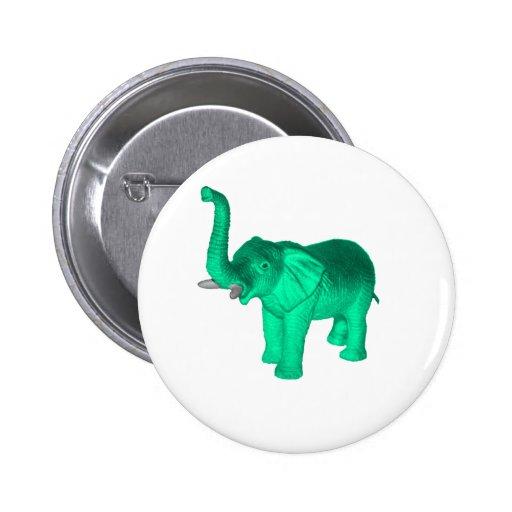 Soft Green Elephant Button