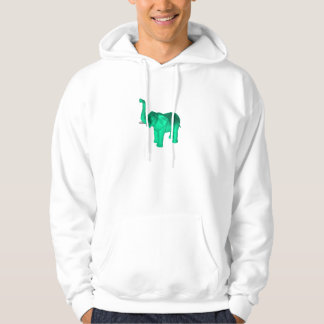 Soft Green Elephant Hooded Pullovers