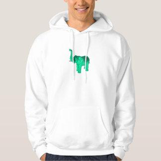 Soft Green Elephant Hoodie