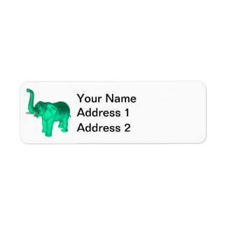 Soft Green Elephant Label