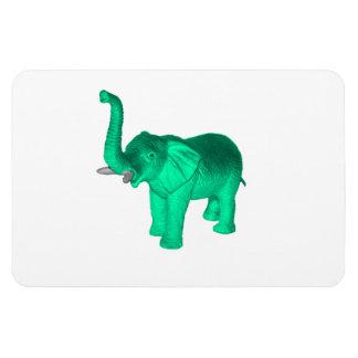 Soft Green Elephant Rectangle Magnet