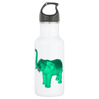 Soft Green Elephant Water Bottle