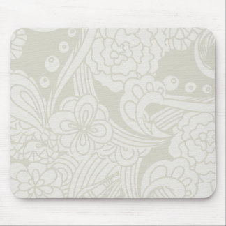 soft green flowers mouse pad